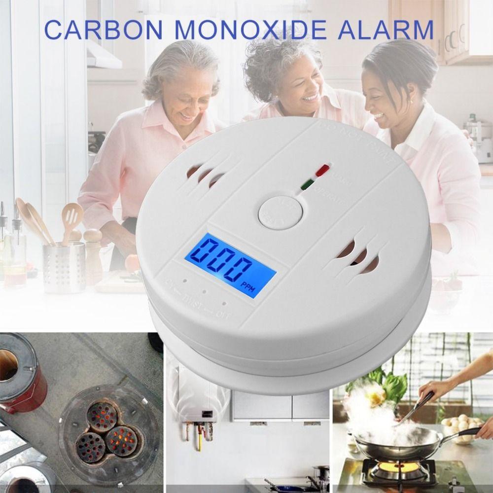 Professional Home CO2 Sensor Safety Wireless CO Carbon Monoxide Poisoning Smoke Gas Sensor Warning Alarm Detector LCD Indicator
