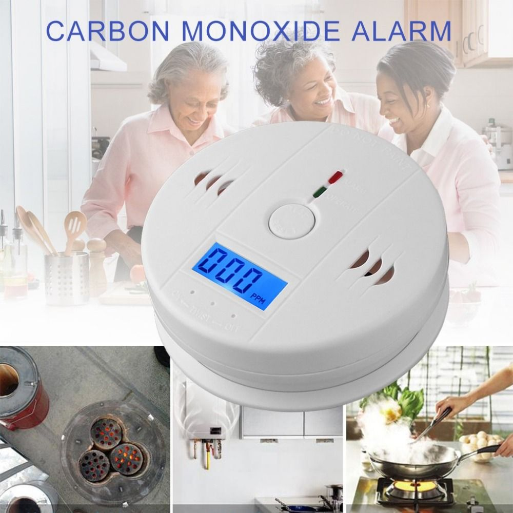 Professional Home Safety Wireless CO Carbon Monoxide Poisoning Smoke Gas Sensor Warning Alarm Detector LCD Displayer Kitchen