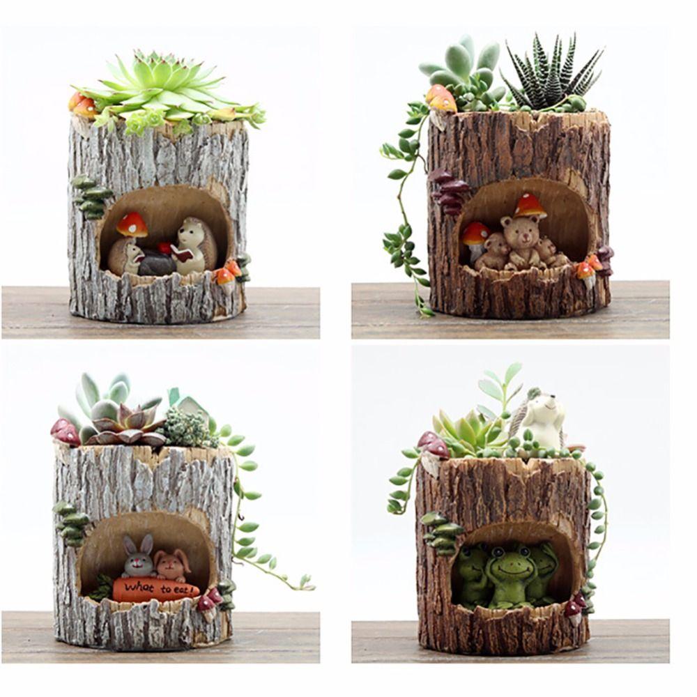 Neueste Sukkulenten Topf Bonsai Pflanzer Blumentöpfe Kelle Anlage Bett Box Haus Tisch Dekorationen Maceteros Suculentas