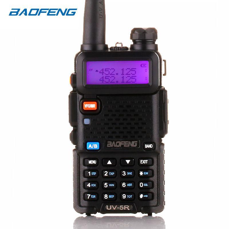 BaoFeng UV-5R Talkie Walkie à Deux Voies Radio mise à niveau version baofeng uv5r 128CH 5 W VHF UHF 136-174 Mhz et 400-520 Mhz