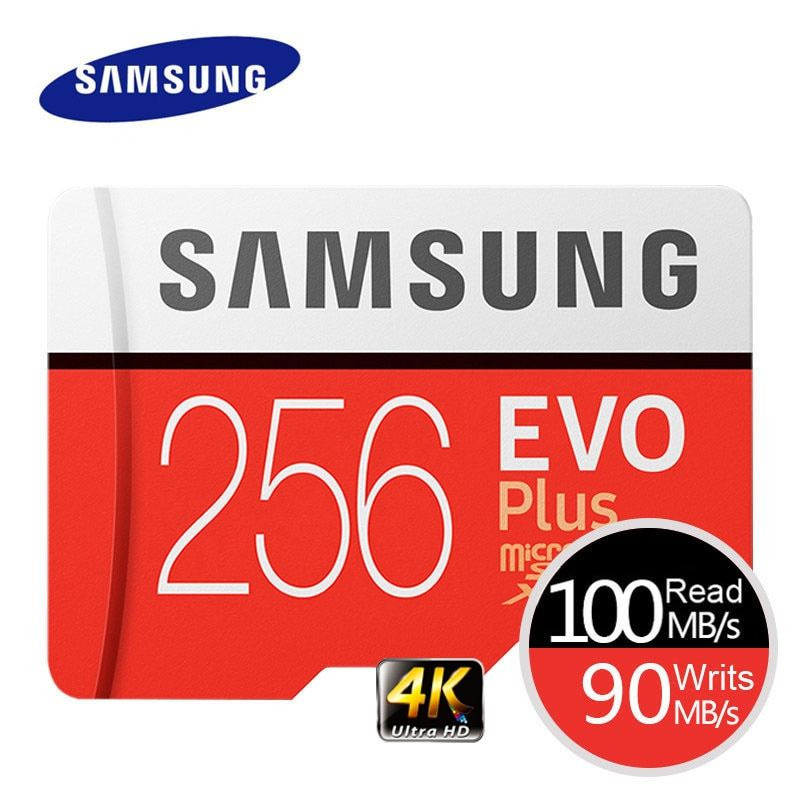Carte mémoire SAMSUNG EVO Plus 4K Ultra HD Micro SD 256 go 128G 64 go carte MicroSD Class10 C10 UHS-I carte MicroSD Trans Flash