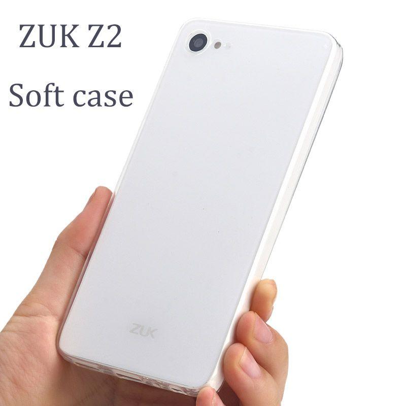 ZUK Z2 couverture de cas ZUKZ2 Transparent mince coque en silicone 5.0