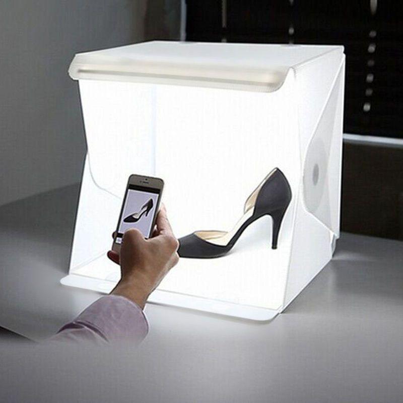 Portable Pliant Lightbox Photographie Studio Softbox LED Lumière Boîte à lumière pour DSLR Caméra Photo Fond Dropshipping