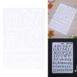 BRICOLAGE Artisanat Nombre Lettre Alphabet Superposition Pochoirs pour Mur Peinture Scrapbooking Timbre Décor Carte En Plastique de Peinture Au Pochoir Modèle