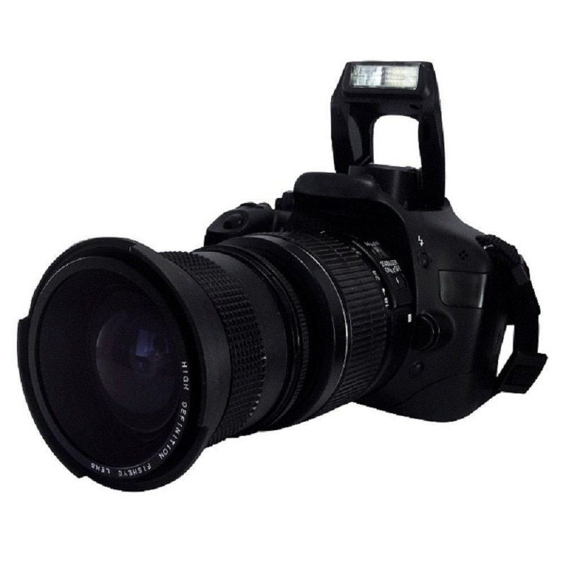 Lightdow 0.35x58mm Super Fisheye Objectif Grand Angle + Macro objectif pour 58mm Canon 70D 60D 7D 6D 700D 650D 600D 550D 500D 1100D 1000D