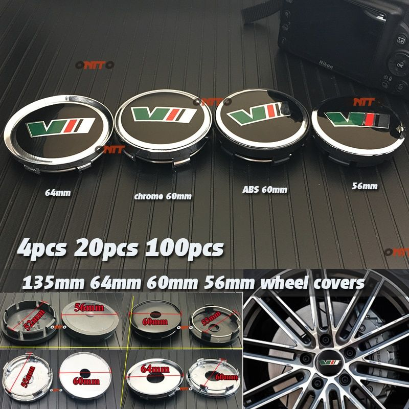 56mm 60mm 64mm 135mm VII emblème de voiture étiquette pour yeti vrs décoration roue Center couverture moyeu capuchon résine Badge emblème autocollant moyeu capuchon