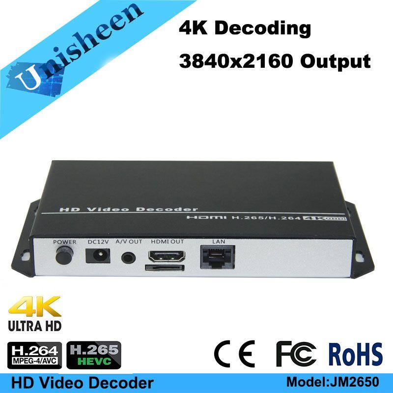 H.265 H.264 niedrigen latenz Video Decoder sender IP encoder decoder rtmp rtsp udp unicast http