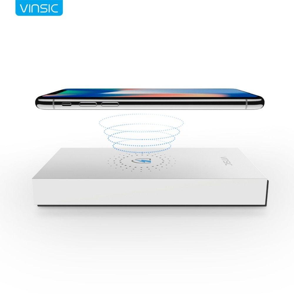 Vinsic 12000mAh External Battery Charger Qi Wireless Charger Power Bank for iPhone X 8 8 Plus Samsung Galaxy S7 / S7 Edge Nexus