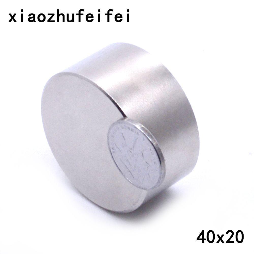 N52 1 pièces Aimant 40mm x 20mm 40x20mm Rond Cylindre Aimants Permanents Au Néodyme 40*20mm NOUVEL Art Artisanat Connexion