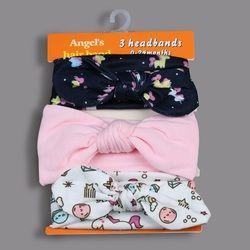 3 Pcs/set Lucu Perempuan Ikatan Simpul Elastis Rambut Tali Campur Gaya Titik Knotted Anak-anak Headwear Bunga Turban Aksesoris Rambut