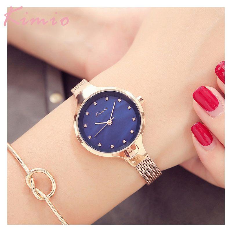 KIMIO Luxury Bracelet Watches Women Ladies Watches Clock Female Dress Relogio Feminino Relojes Mujer Quartz Wristwatch For Women