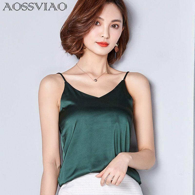 Nouveau Eté Automne style Imitation soie femmes Blouse Chemise Sexy blanc Rouge Gris Noir Tops Partie Filles Blusas Chemises 2018 mode