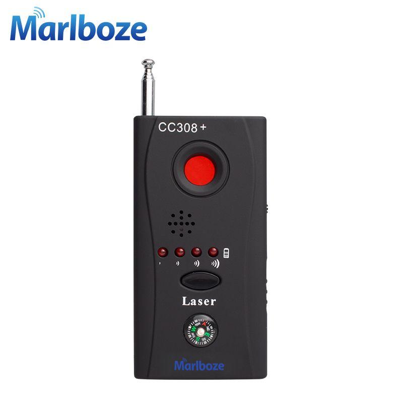 Marlboze FNR Completo de frecuencia Del Detector CC308 Wireless GSM Buscador Device Cam Lente Laser RF Detector de Señal