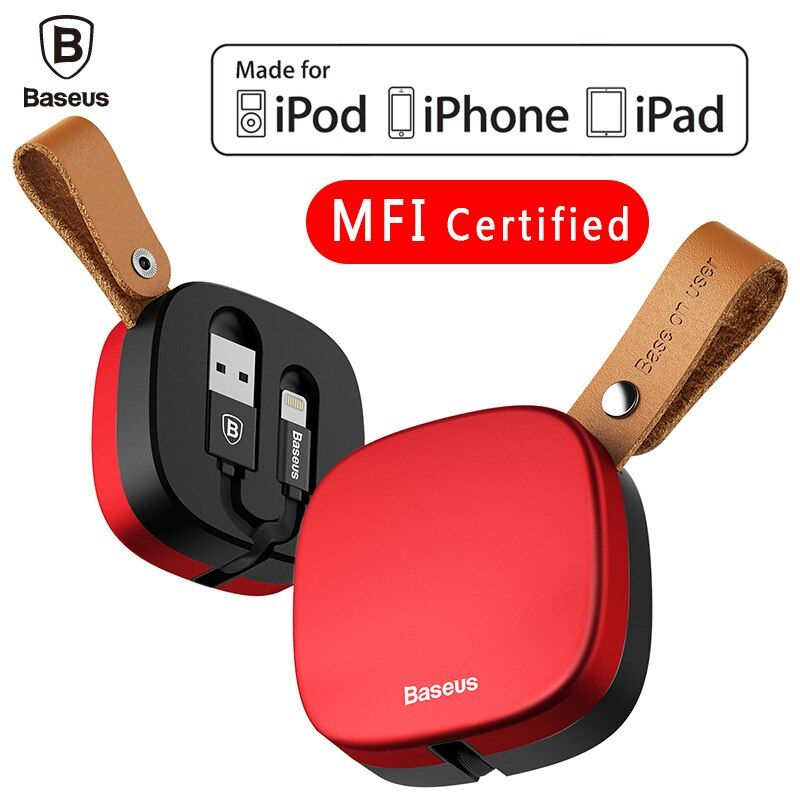 Baseus MFI Retractable 2 in 1 For Lightning USB Cable For iPhone 7 6 6s Flexible Data Micro USB Cable For Android Phone Charger