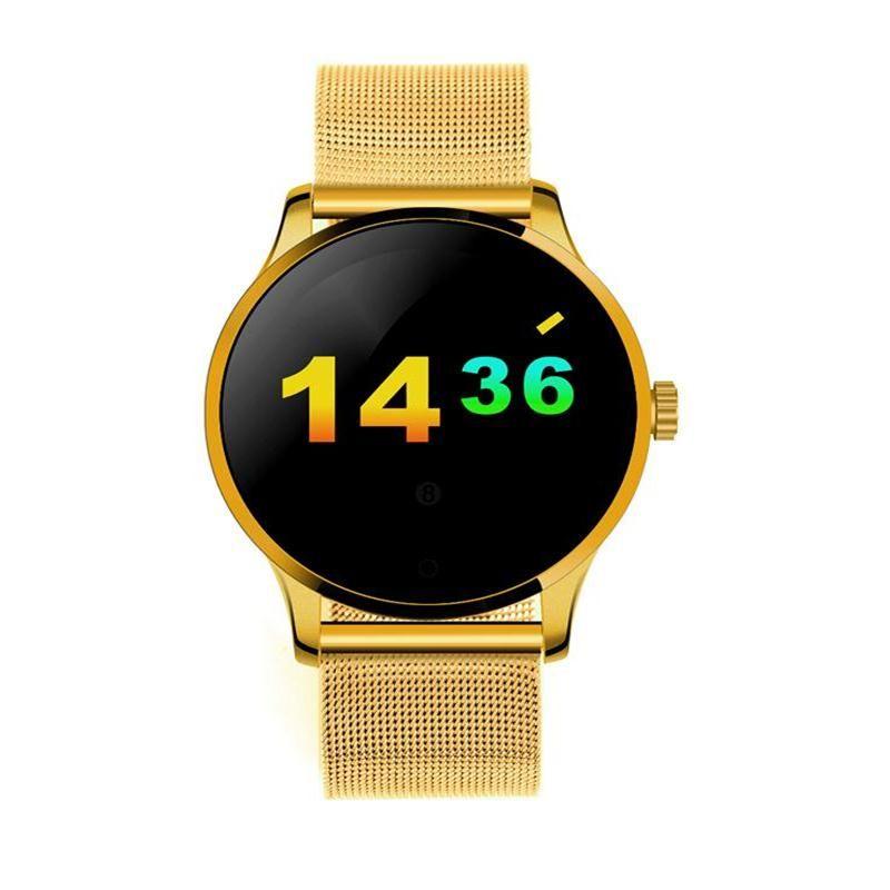 K88h smart watch 1.22 pouces ips écran rond soutien moniteur de fréquence cardiaque bluetooth smartwatch pour apple huawei ios/android
