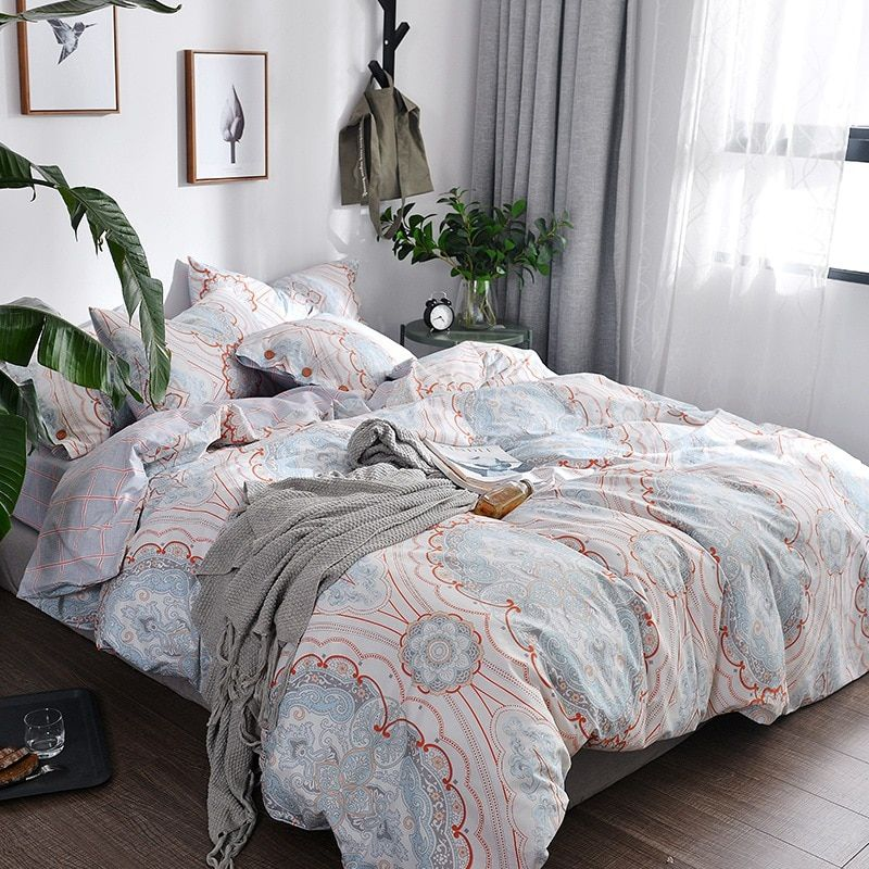 TUTUBIRD-Bohomain Cotton bedding set duvet cover kids adult simple pastoral style princess home textile bedclothes bedspread