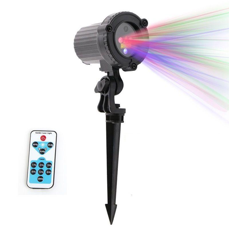 RGB Laser Weihnachtsbeleuchtung Sterne Rot Grün Blau duschen Projektor Garten Im Freien Wasserdichte IP65 Für Weihnachten Dekoration mit Fernbedienung