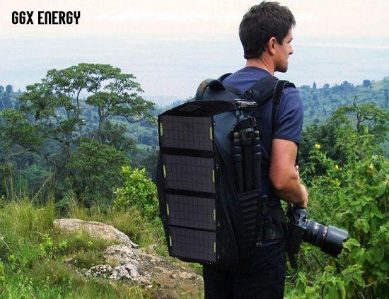 Tragbare Solar-ladegerät für Camping + 14 Watt Mono Fodable Solar Panel + Doppel Usb-ausgang + Wasserdichte Solar Wiederaufladbare Falttasche