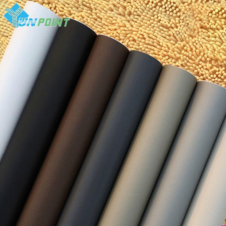 60 cm * 3 m Solide Mat Vinyle auto-adhésif Papier Peint DIY Étanche Stickers Muraux Home Decor Films Salon cuisine Porte Affiche