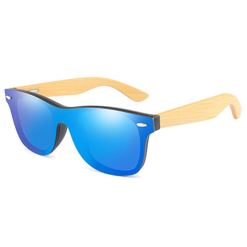 Vintage Bamboo Wood Frame Men Women Sunglasses Fashion Mirror Coating Sun Glasses Shades Eyewear UV400 Oculos de sol Gafas