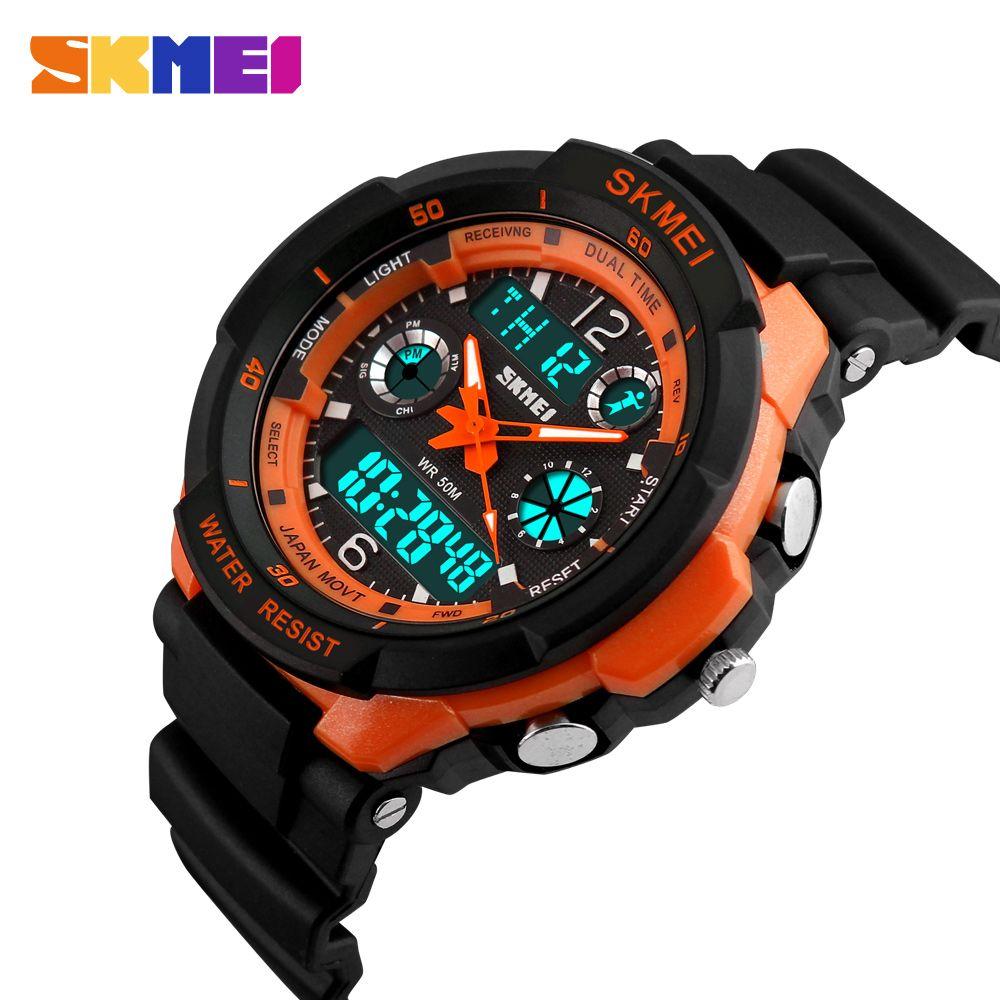 SKMEI enfants montres Anti-choc 5Bar étanche Sport de plein air enfants montres de mode montre numérique Relogio Masculino 0931