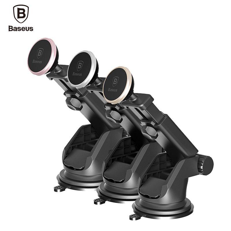 BASEUS телескопическая автомобильный держатель телефона для iPhone 7 лобовое стекло автомобиля магнитный держатель для мобильного телефона стен...