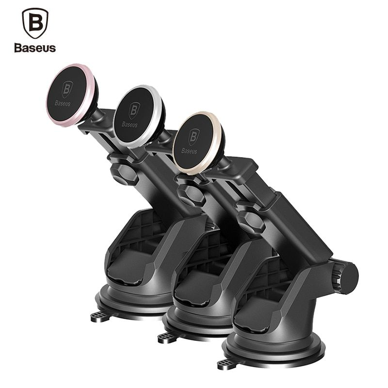 Baseus Telescopic Car Phone Holder For iPhone X 8 Car Windshield Dashboard Mount Magnetic Mobile Phone Holder Stand Smartphone