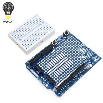 Livraison Gratuite UNO Proto Shield prototype carte d'extension avec SYB-170 mini pain conseil basé Pour ARDUINO UNO ProtoShield