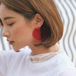AOMU простой дизайн геометрические серьги женские прозрачные Большой Круглый Круг Акриловые сережки серьги для женщин Brincos Ювелирные издели...