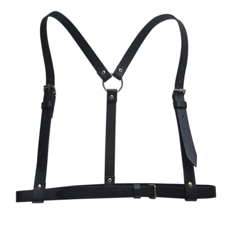 Women Sexy Harajuku Garters Faux Leather Body Bondage Cage Sculpting Harness Waist Belt Straps Suspenders Belt for Adult