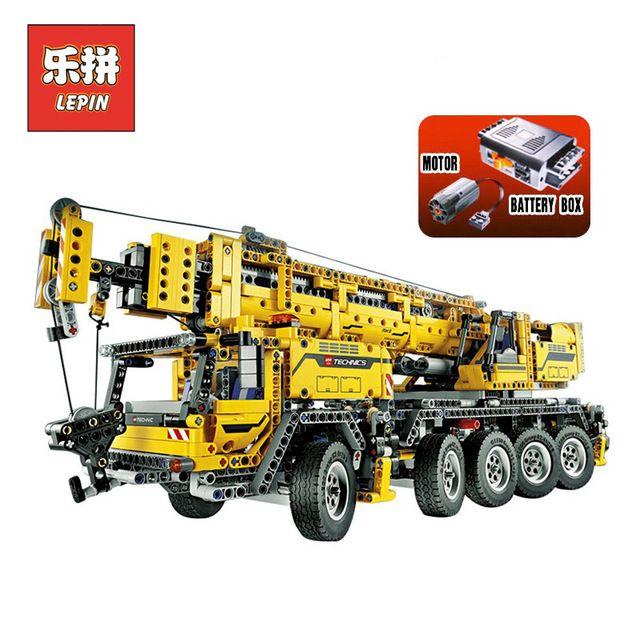 Lepin 20004 Technic Motor Power Mobile Crane Mk II DIY Set Truck Model Building Blocks Bricks Children Toys Christmas Gift 42009