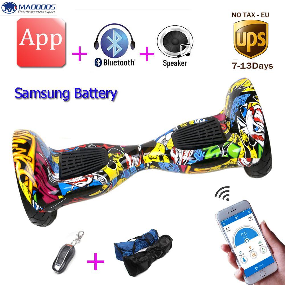 Hoverboard 10 Zoll APP Elektroroller Hoverboard Selbstausgleich Roller Smart Balance Rad Elektrisches Skateboard Schwebebrett