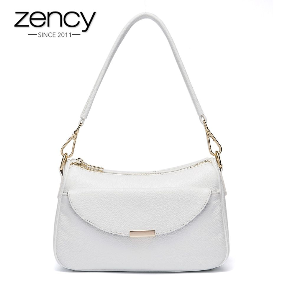 2018 Zency Famous Brand Genuine Leather Luxury Women Handbag Fashion Designer Ladies Shoulder Bag Tote Crossbody Messenger