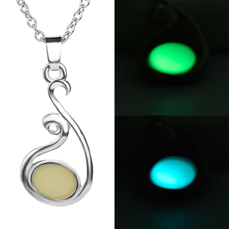 2016 New Design Necklace Grow In the Dark Luminous Pendant Mother Mom Love Necklace  For Women Mother's Day Gifts