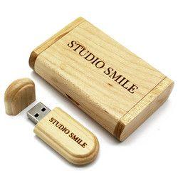 Binful Real Capacity Kayu 64 GB 32 GB 16 GB 8 GB USB 2.0 Flash Drive Memori Stik Kotak Kemasan flashdisk