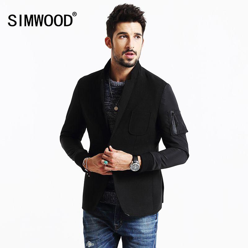 SIMWOOD 2018 Neue Winter Beiläufige blazer Männer Mode Mäntel Slim Fit Marke Clothiong Smart Casual Anzüge Männliche Hochwertigen XZ6111