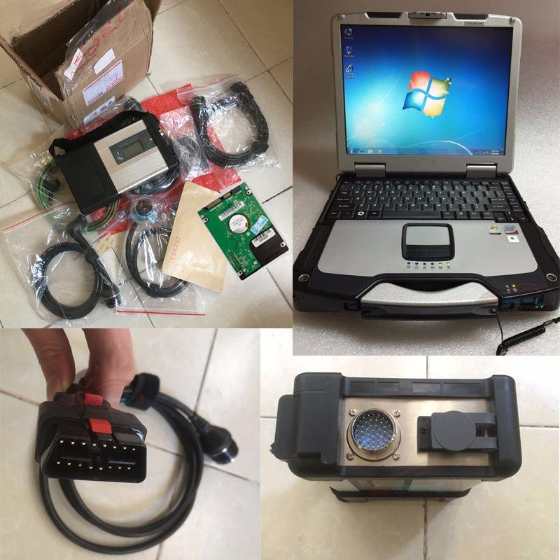 MB STERNE C5 SD Schließen C5 mit 03/2018 Software HDD Military Laptop CF30 Diagnose PC für auto und lkw diagnose Bereit, verwenden