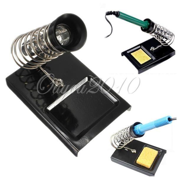 Lötkolben Unterstützung Stehen Station W/Metall Basis Startseite DIY Elektrische Sicherheit Schutz Basis