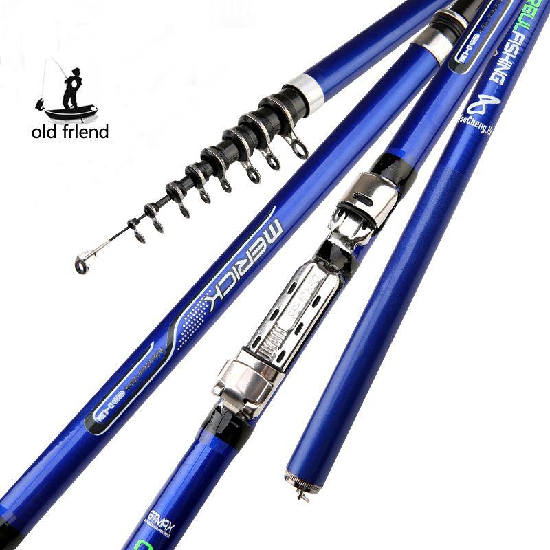 carbon fiber 3.6M 4.5M 5.4M 6.3M Spinning Fishing Rod M Power Telescopic Rock Fishing Rod Carp Feeder Rod Surf Spinning Rod