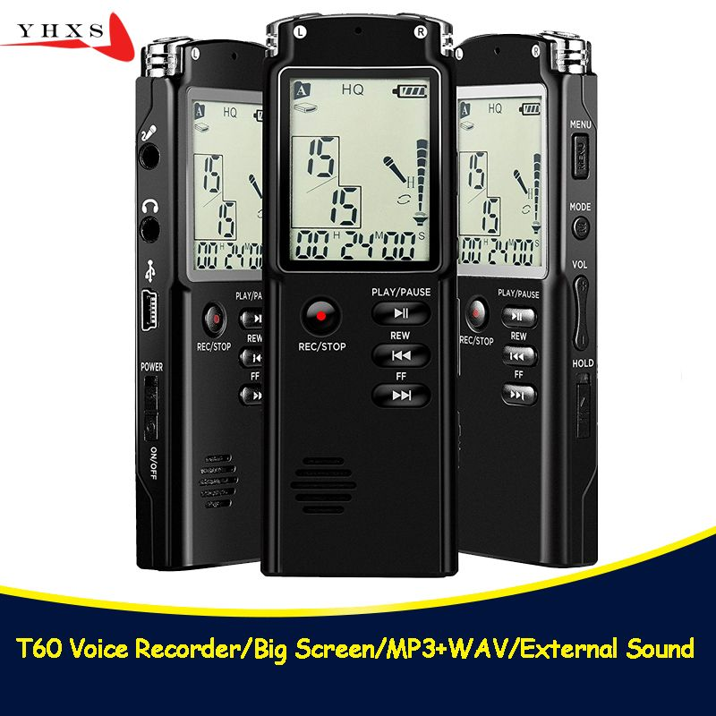 Portable 32GB Original Voice Recorder USB Professional 96 Hours LCD Dictaphone Digital Audio Voice Recorder with WAV MP3 Player