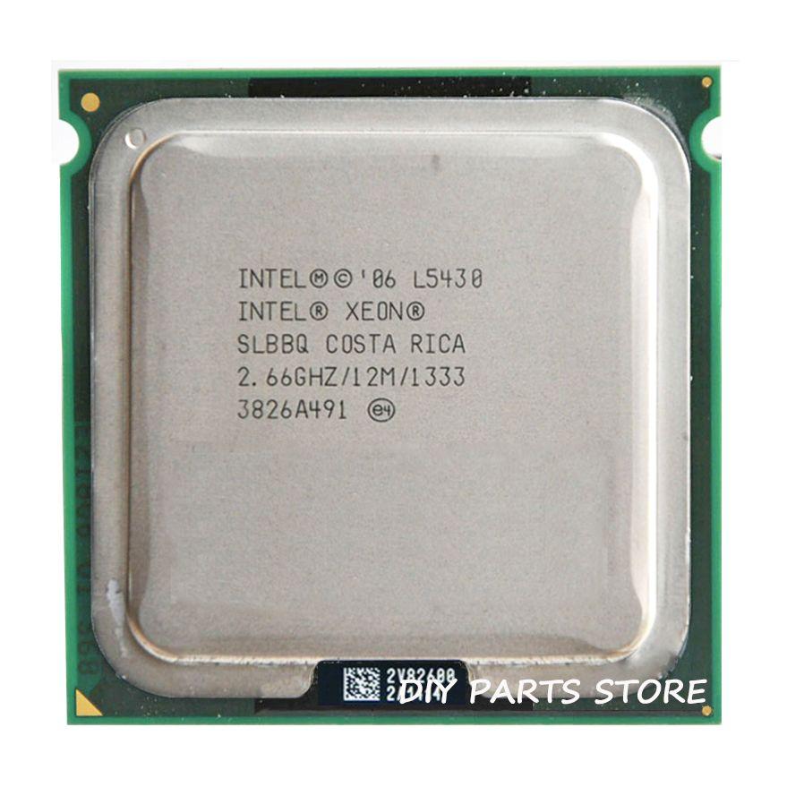 INTEL XONE L5430 cpu intel L5430 PROCESSOR quad core 2.67MHZ LeveL2 12M Work on 775 with 2pcs adaperts