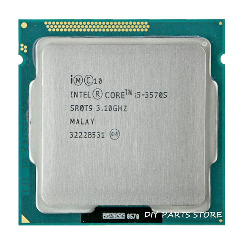 Intel Core i5 3570 S i5-3570 S CPU 3,4 GHz/6 MB Sockel LGA 1155 CPU Prozessor HD 2500 Unterstützt speicher: DDR3-1066, DDR3-1333