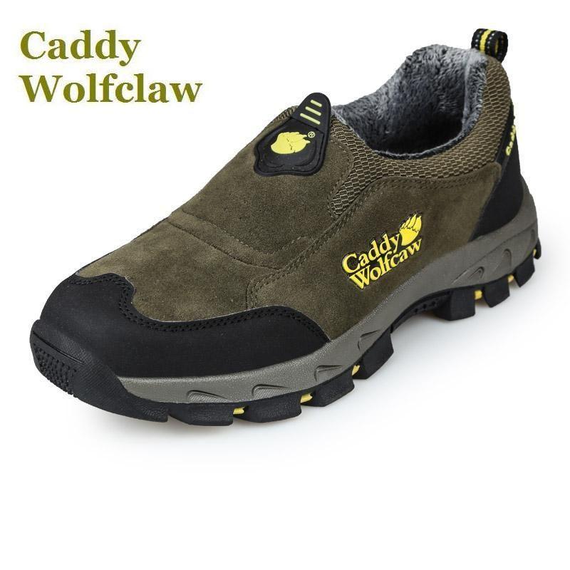 Caddy Wolfclaw 2016 Automne hiver randonnée chaussures de fourrure chaud en plein air sport chaussures hommes sneakers slip on suede en cuir d'hiver chaussures mâle