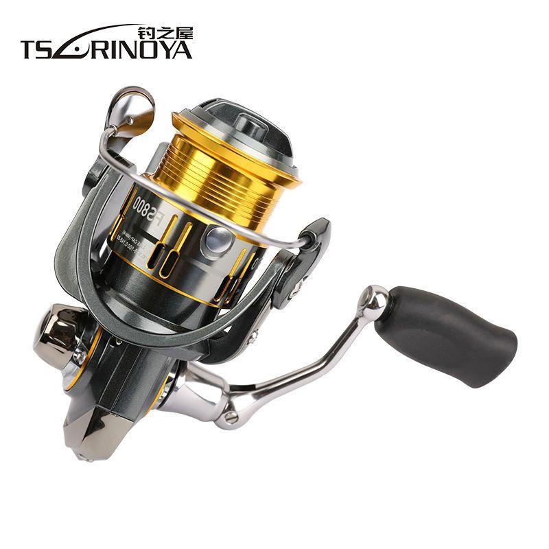 TSURINOYA FS800 FS1000 Spinning Reels Metal Spool Lure Reel 9+1BB 5.2:1 Rock Fishing Wheel Molinete Peche Para Pesca Carp Coil