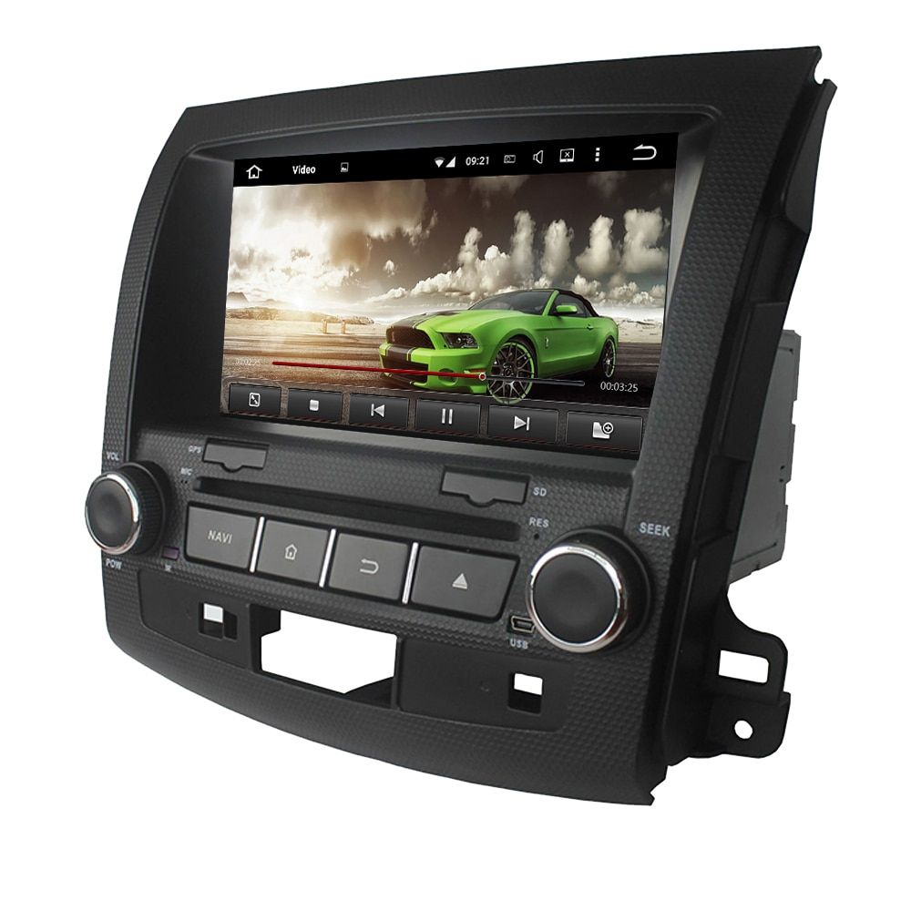 Android 7.1 car dvd GPS for Mitsubishi Outlander 2006-2012 radio gps wifi 3G Mirror link free map and reverse camera