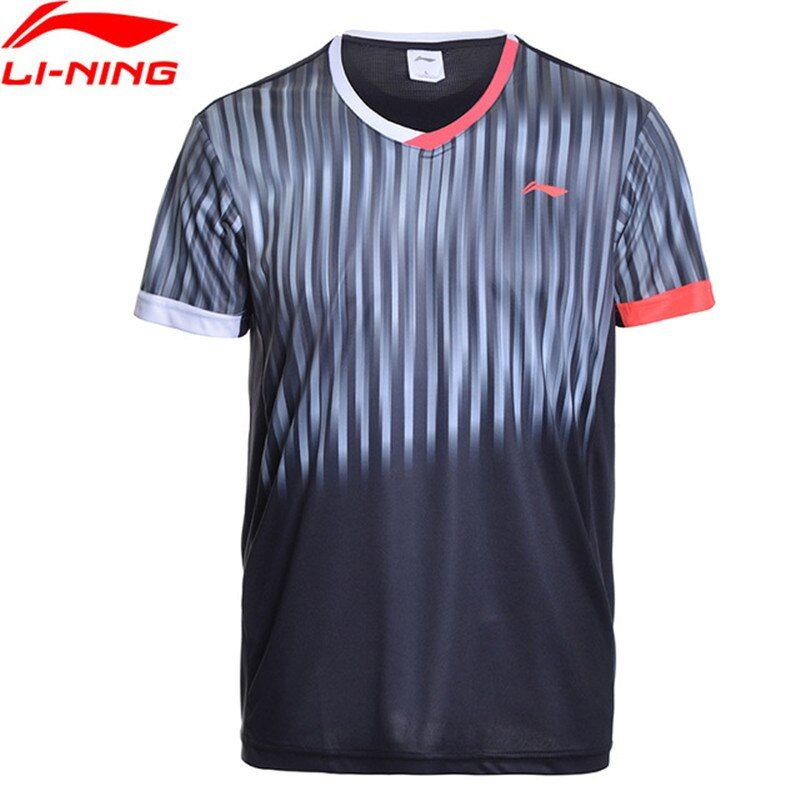 Li Ning Männer Hemd BEI Badminton Shirts Atmungs Licht T-Shirts Wettbewerb Top Komfort Li Ning Sport T AAYM147