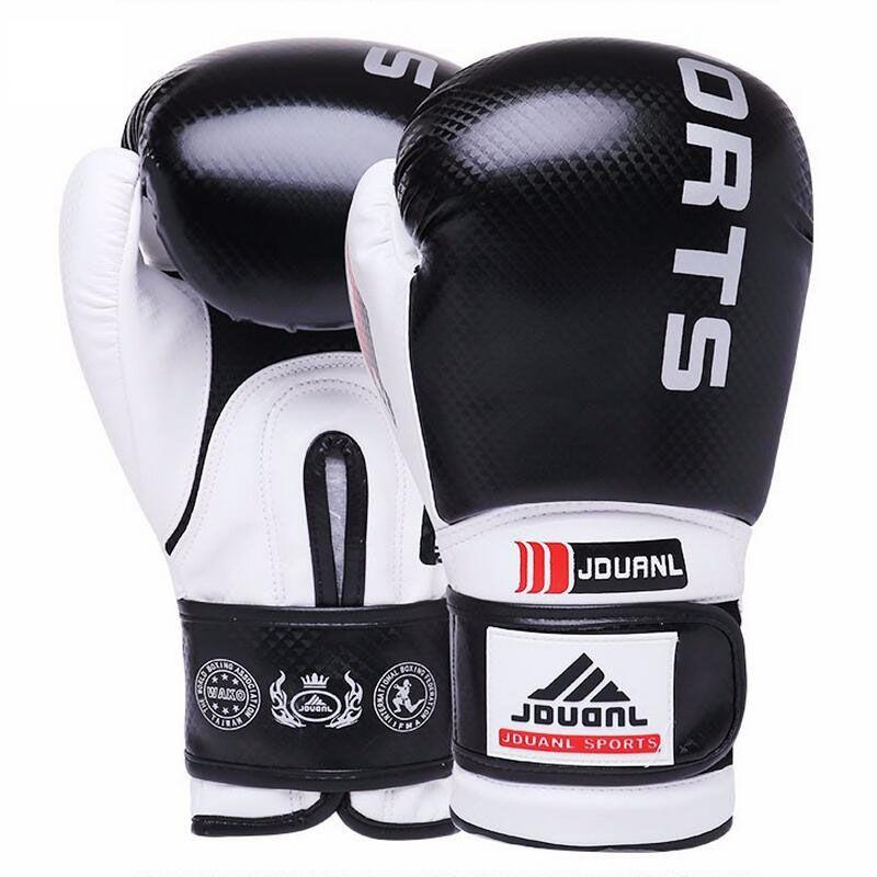 Black Red Blue Boxing Gloves Sanda Karate Free Fight Sandbag Taekwondo Protector MMA Boxeo Muay Thai Mitts luva de box 10-12 oz