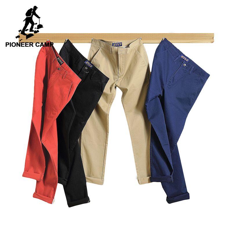 Пионерский лагерь 2018 повседневные штаны брендовая мужская одежда высокого качества весна длинным хаки брюки эластичные мужские штаны для ...