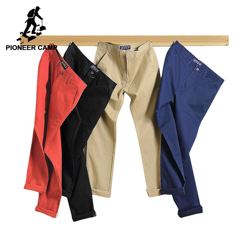 Pioneer Camp 2018 casual pants men <font><b>Brand</b></font> clothing High quality Spring summer Long Khaki Pants Elastic male Trousers 655110