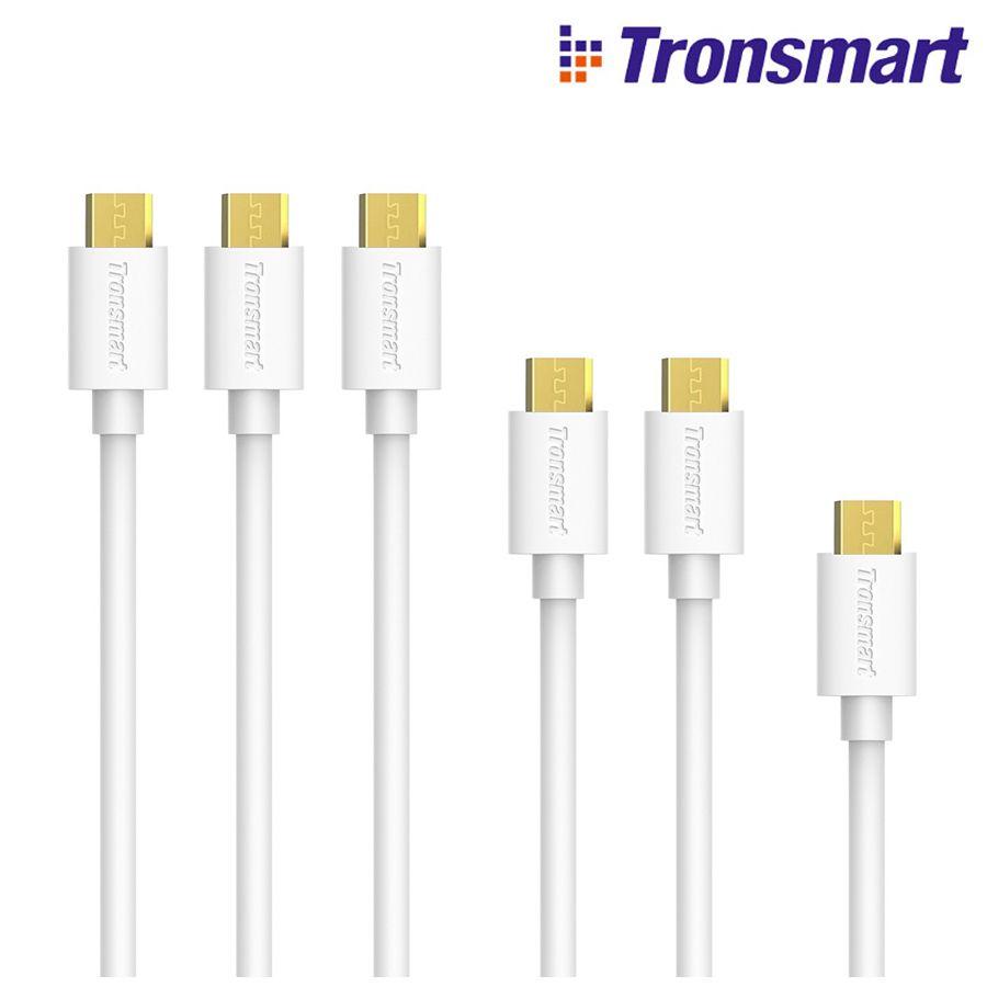[6 Pack] Tronsmart MUPP9 USB 2.0 Mâle à Micro USB Câble pour Samsung Galaxy S7 S6 Note 5 (0.3 M * 1 + 1 M * 2 + 1.8 M * 3) et plus Or-Plaqué